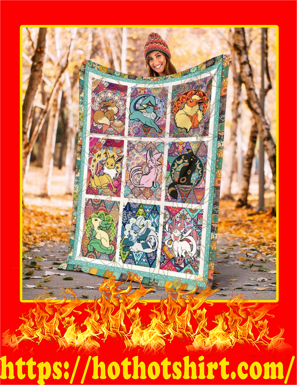 Eeveelutions Blanket - Large