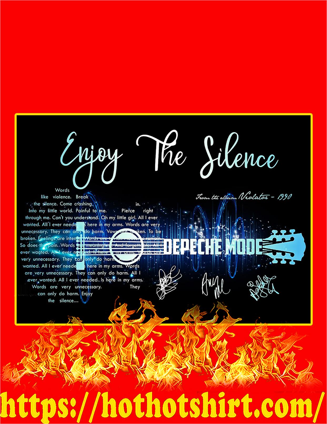Enjoy The Silence Depeche Mode Signature Guitar Poster - A2