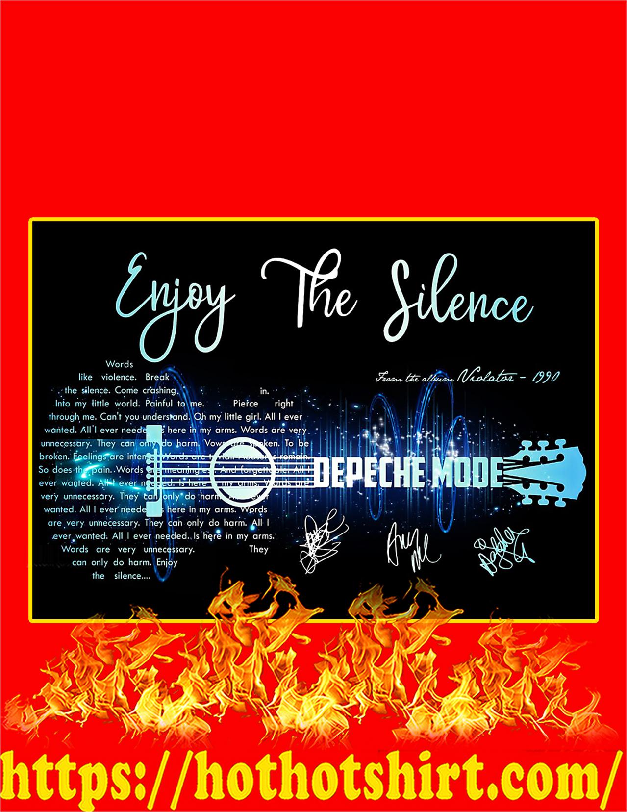 Enjoy The Silence Depeche Mode Signature Guitar Poster - A4