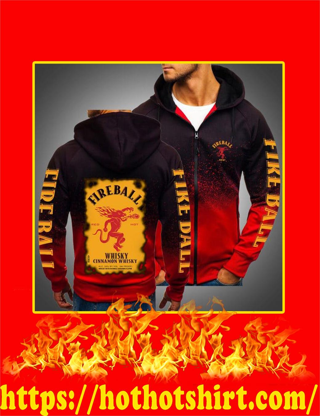 Fireball Cinnamon Whisky 3D Gradient Hoodie- red