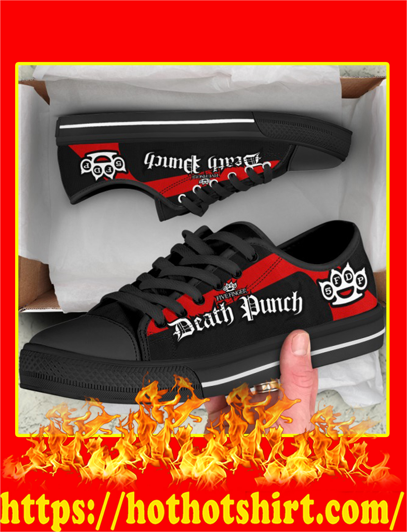 Five Finger Death Punch Low Top Shoes-picture 1