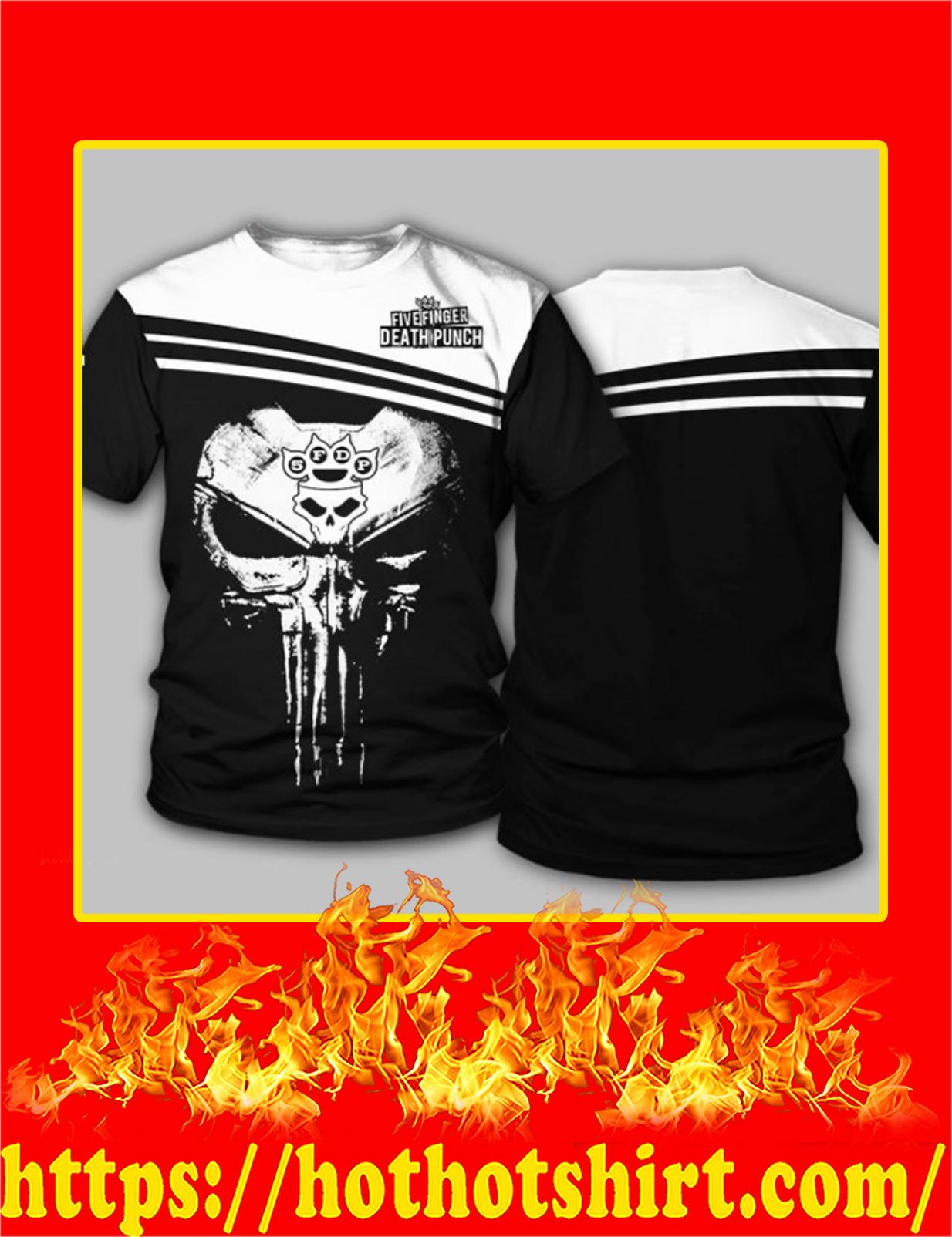 Five Finger Death Punch Punisher Skull 3D T-shirt