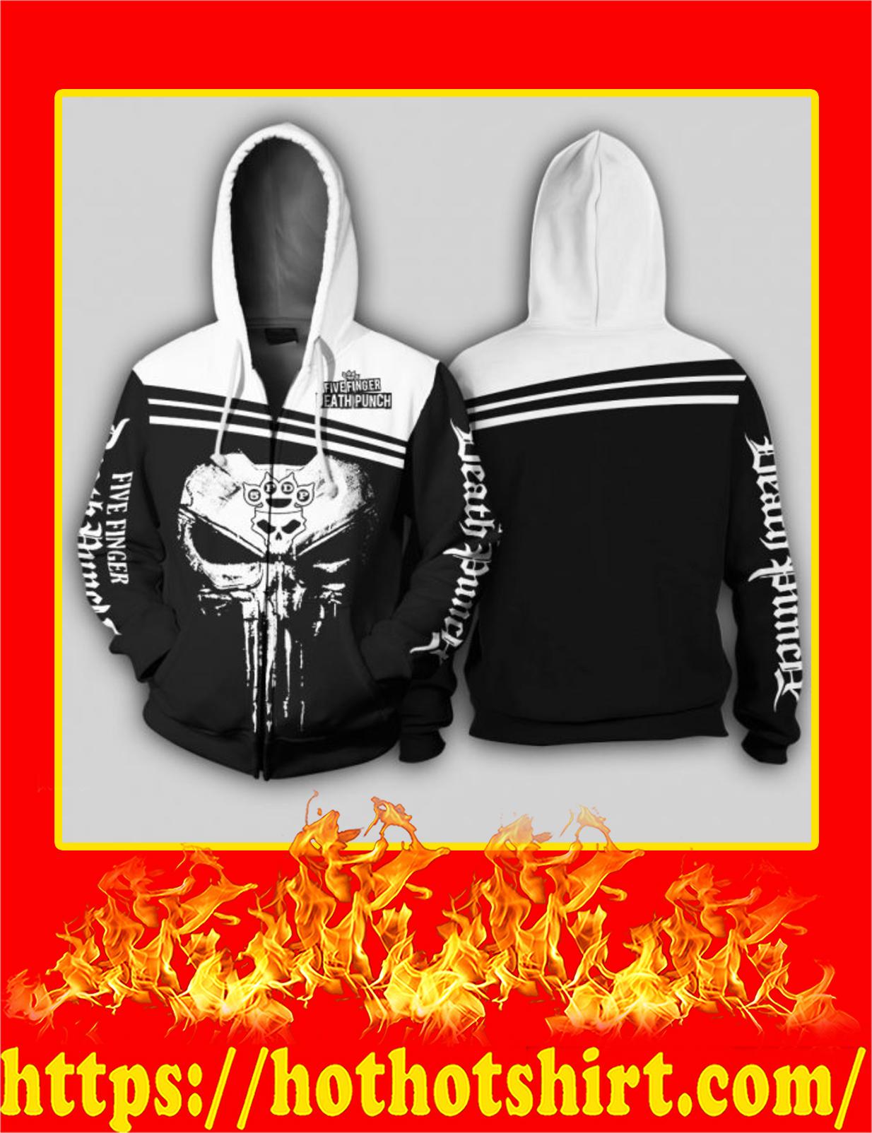 Five Finger Death Punch Punisher Skull 3D Zip Hoodie