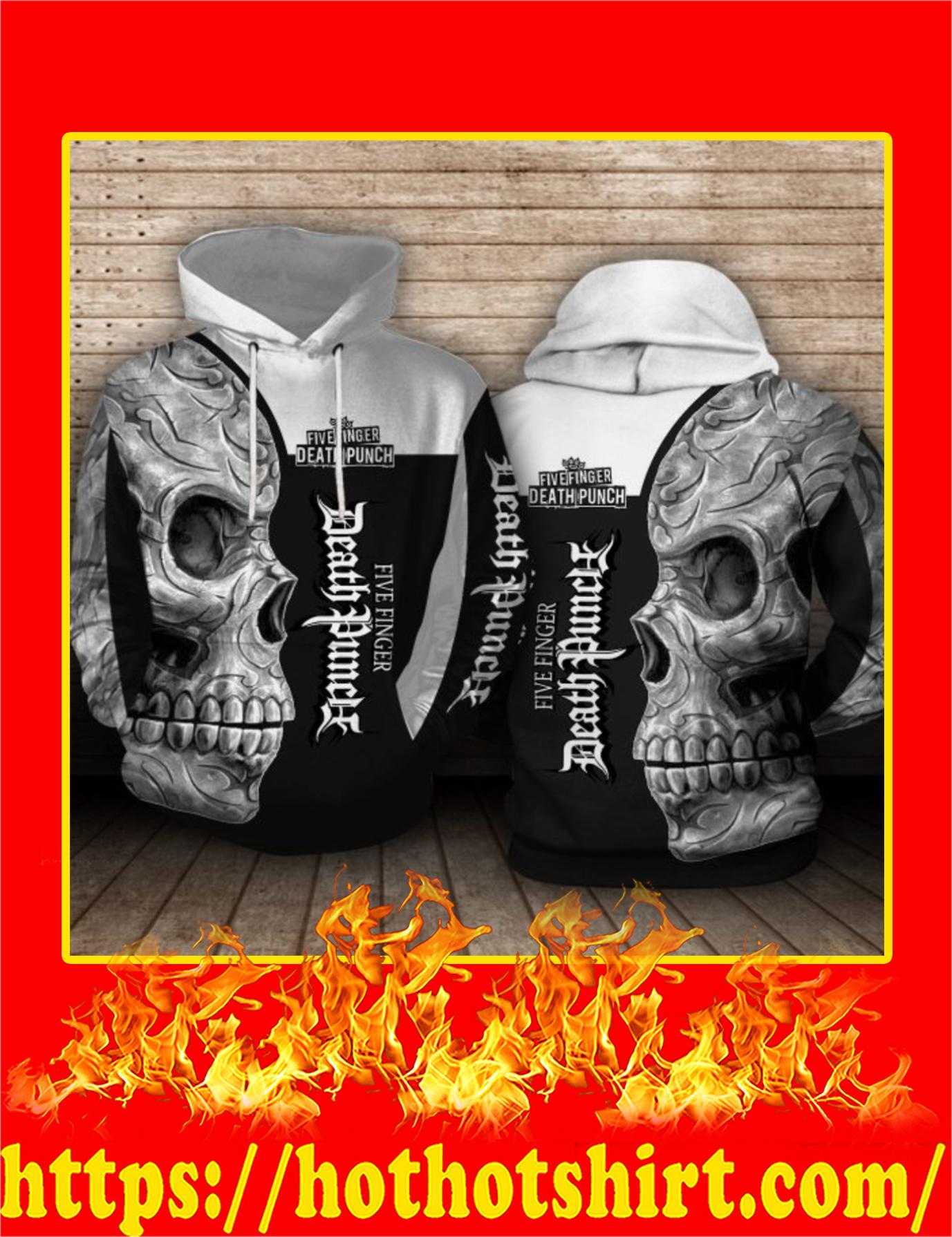 Five Finger Death Punch Sugar Skull 3d Hoodie