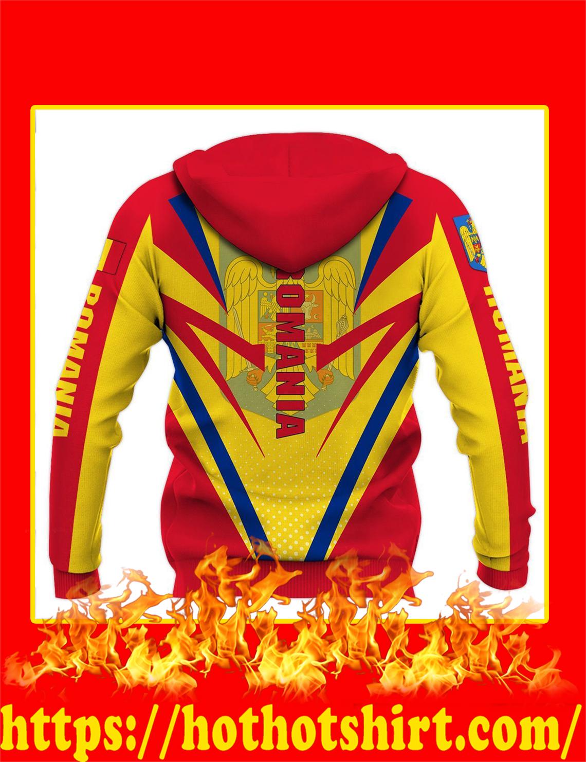 Flag Romania 3d hoodie- back