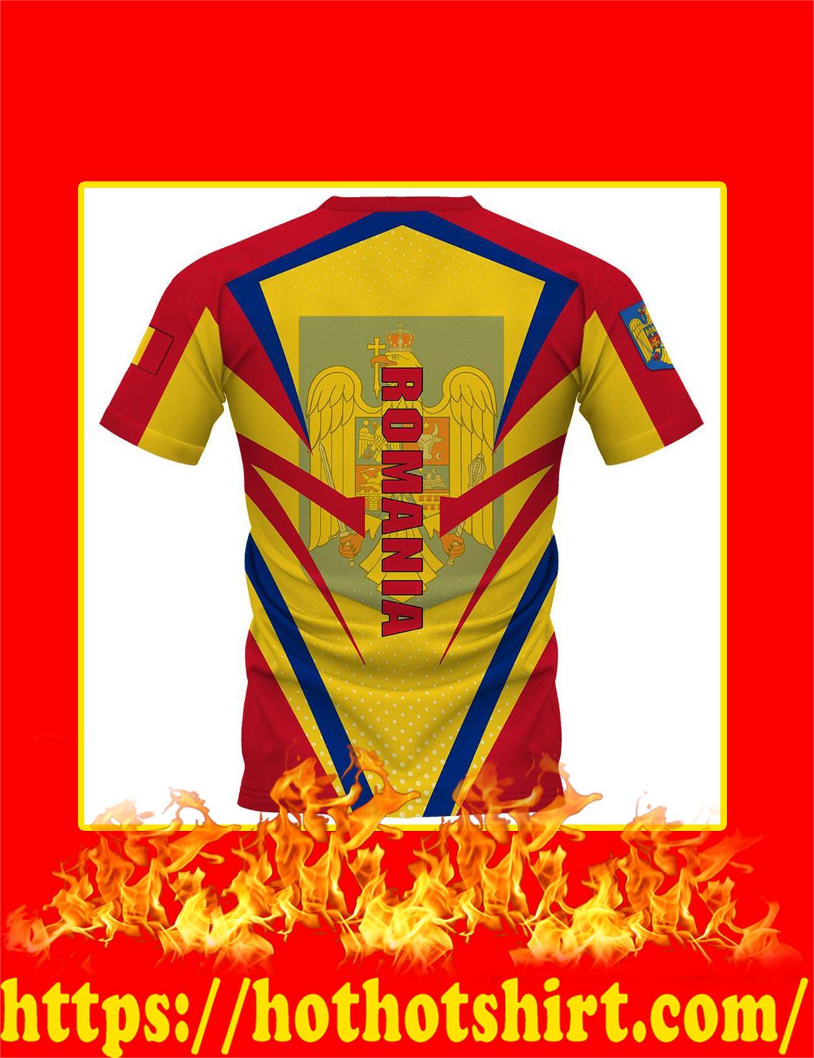 Flag Romania 3d shirt- back