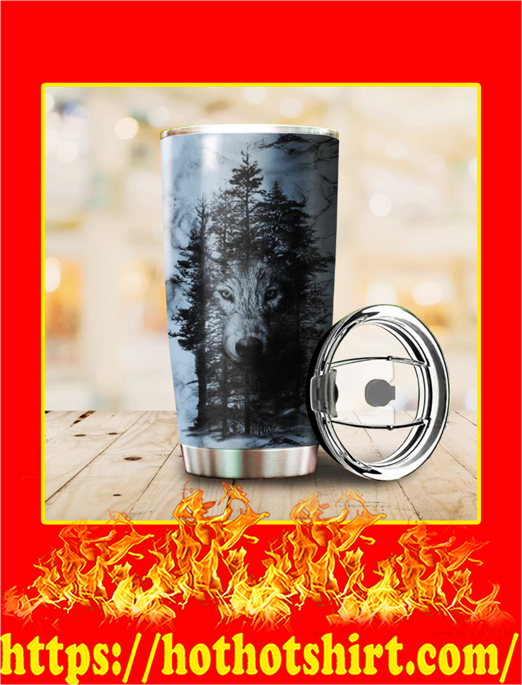 Forest Wolf Tumbler- 20 oz
