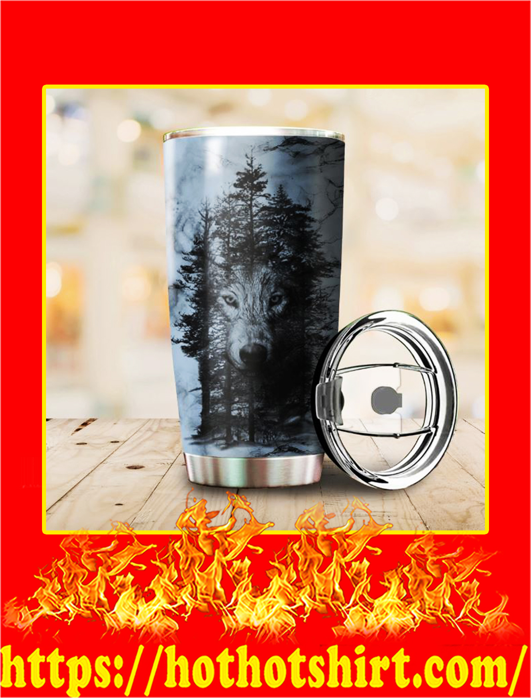 Forest Wolf Tumbler