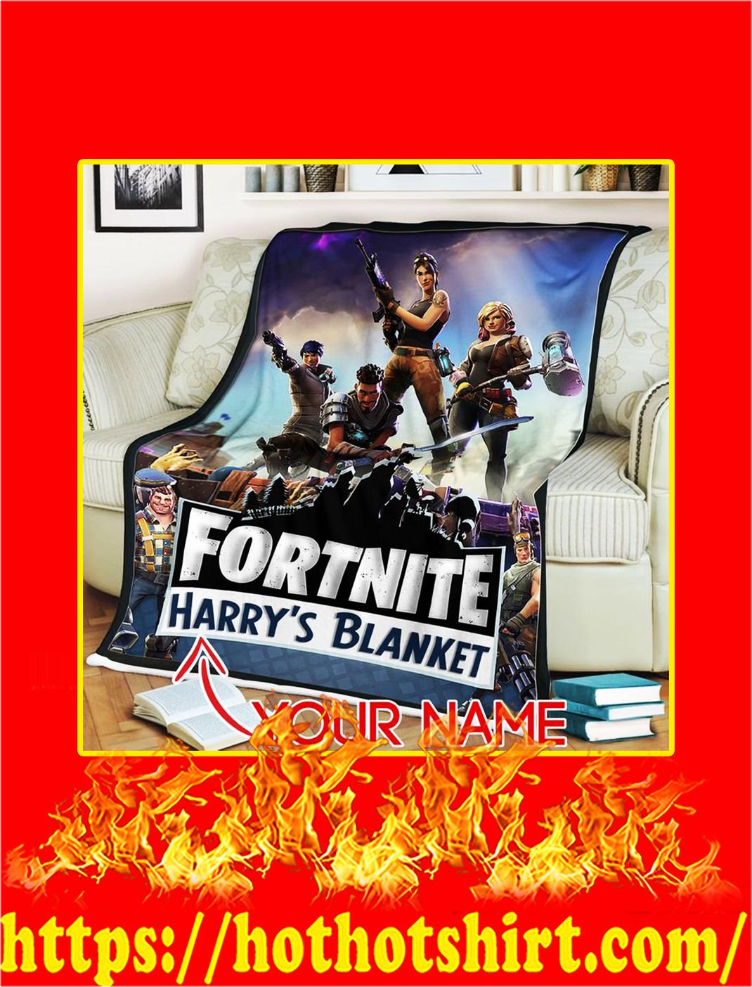 Fortnite Gaming Custom Name Personalize Blanket