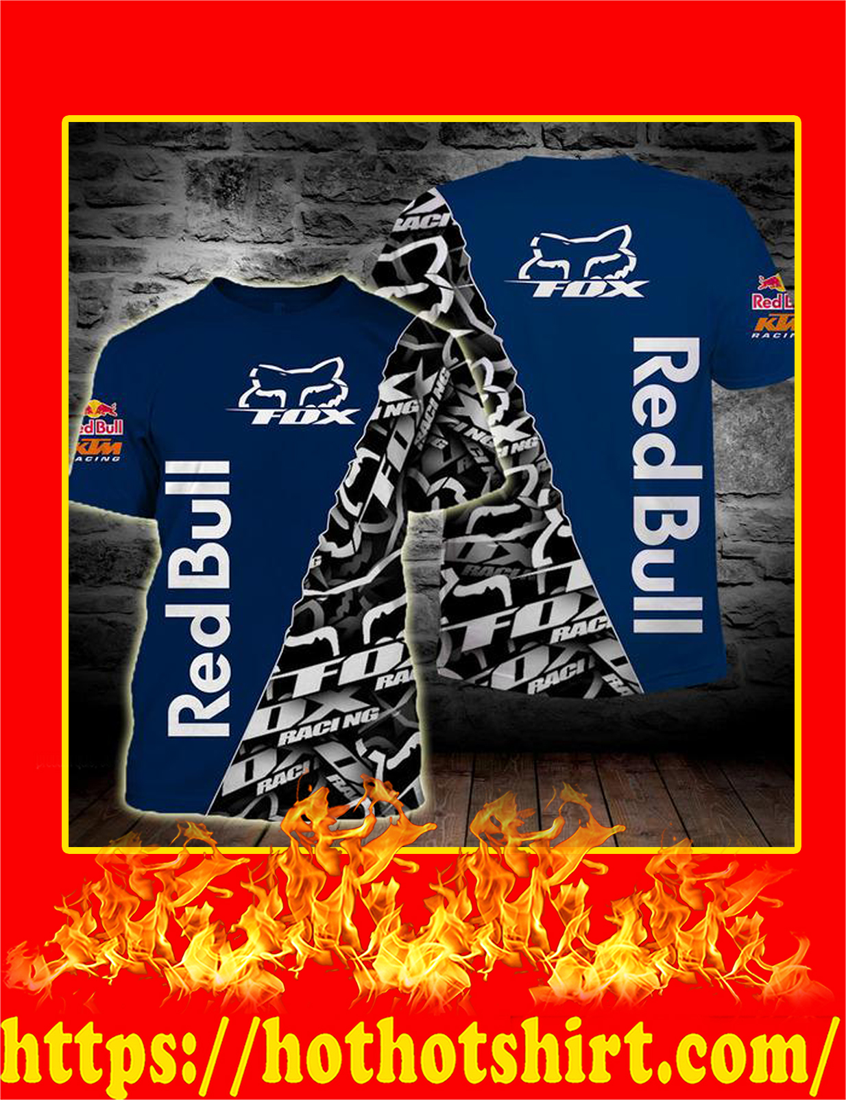 Fox Racing Redbull 3D T-Shirt