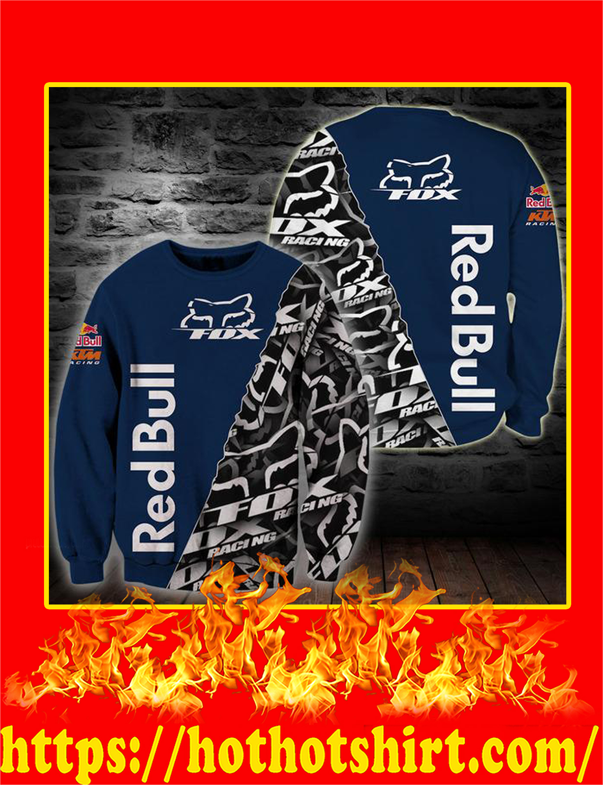 Fox Racing Redbull 3D sweatshirt
