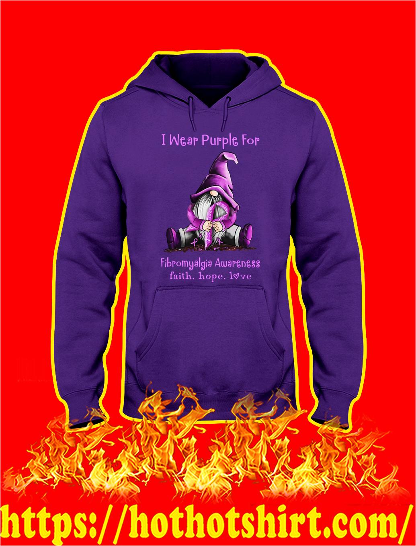 Gnome Fibromyalgia Awareness I Wear Purple hoodie