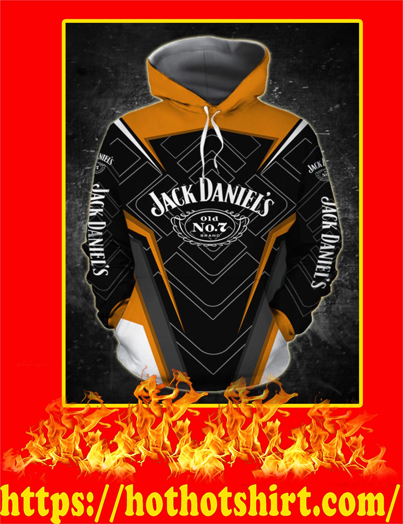 Groot Hug Jack Daniels All Over Printed 3D hoodie - Front