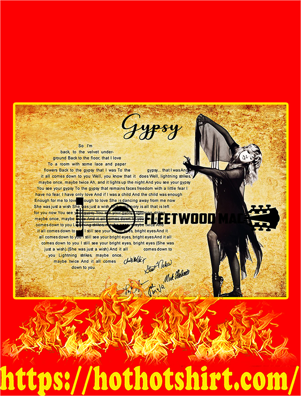 Gypsy Fleetwood Mac Signature Poster - A2