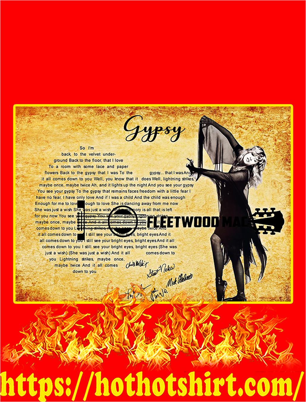 Gypsy Fleetwood Mac Signature Poster - A3