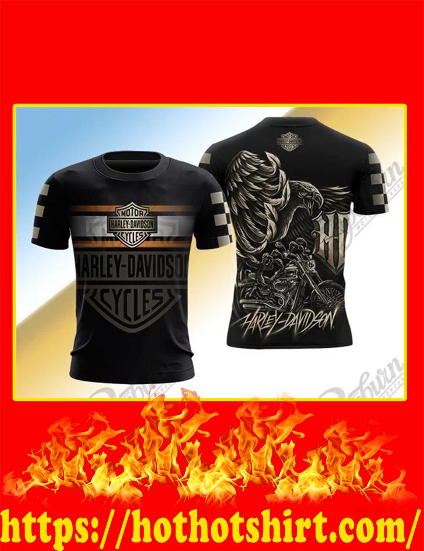 Harley Davidson Logo Eagle 3D shirt