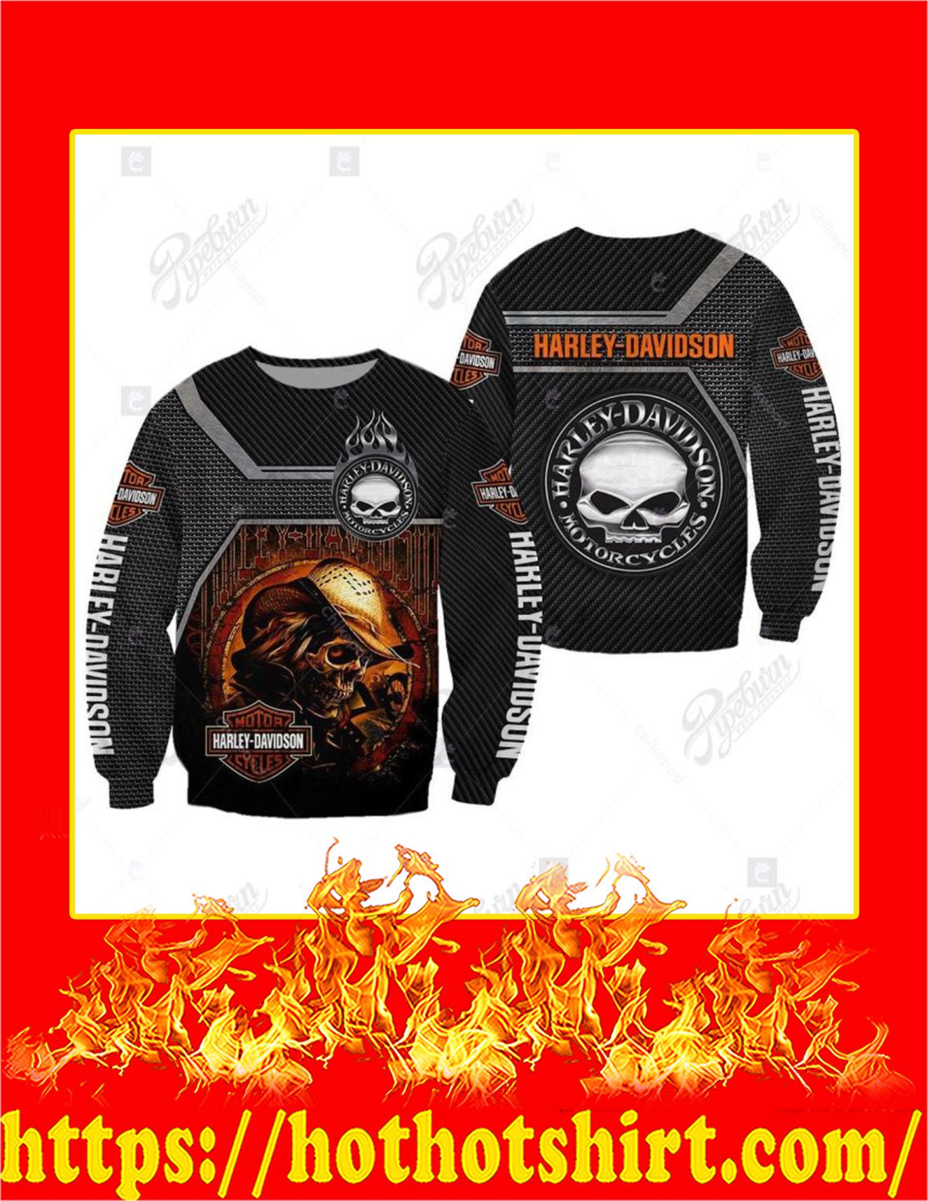 Harley Davidson Logo Skull 3D Sweatshirt