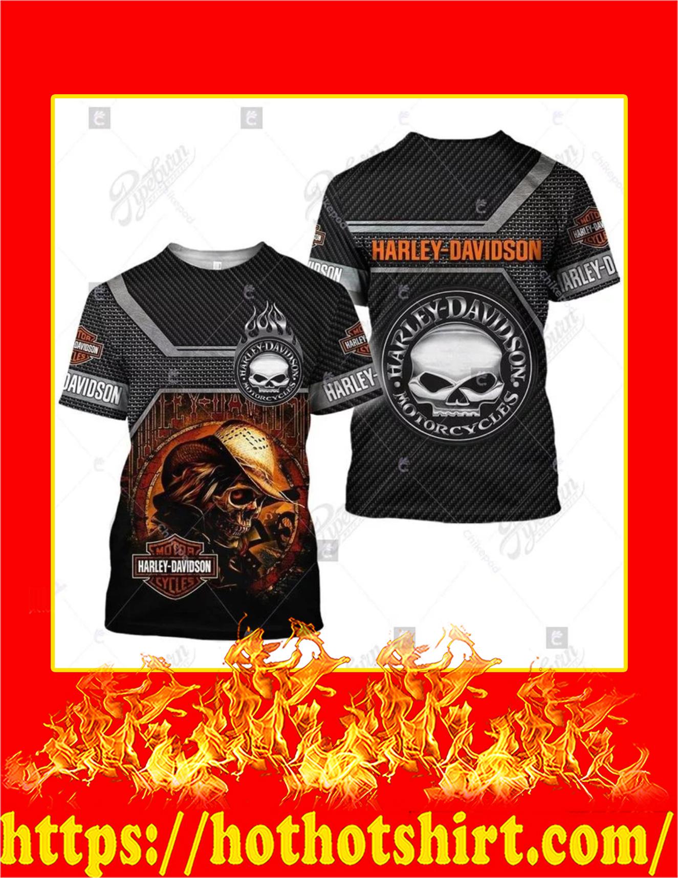 Harley Davidson Logo Skull 3D T-Shirt
