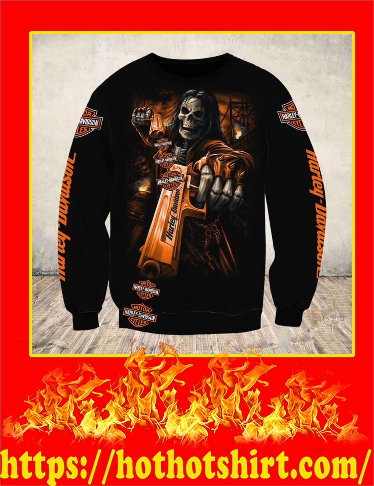 Harley Davidson Skull Horror 3D Sweatshirt
