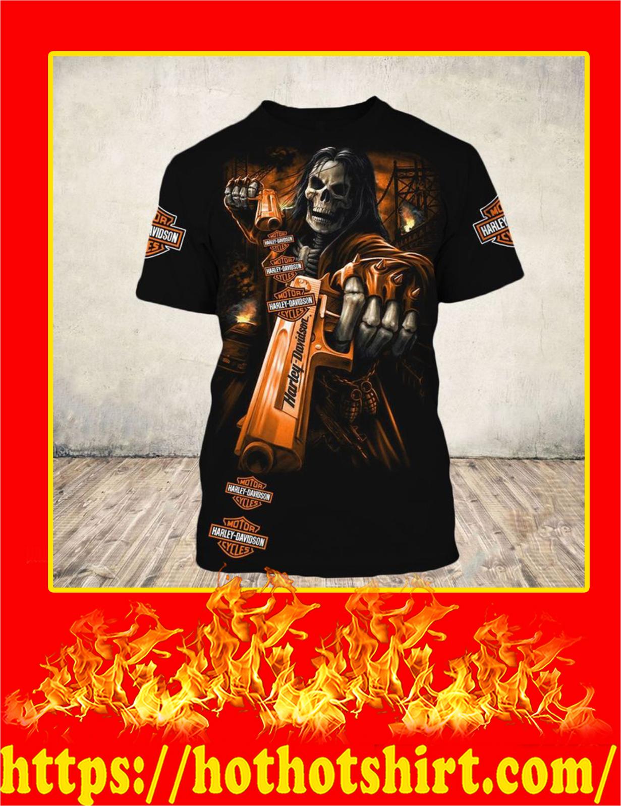 Harley Davidson Skull Horror 3D T-Shirt