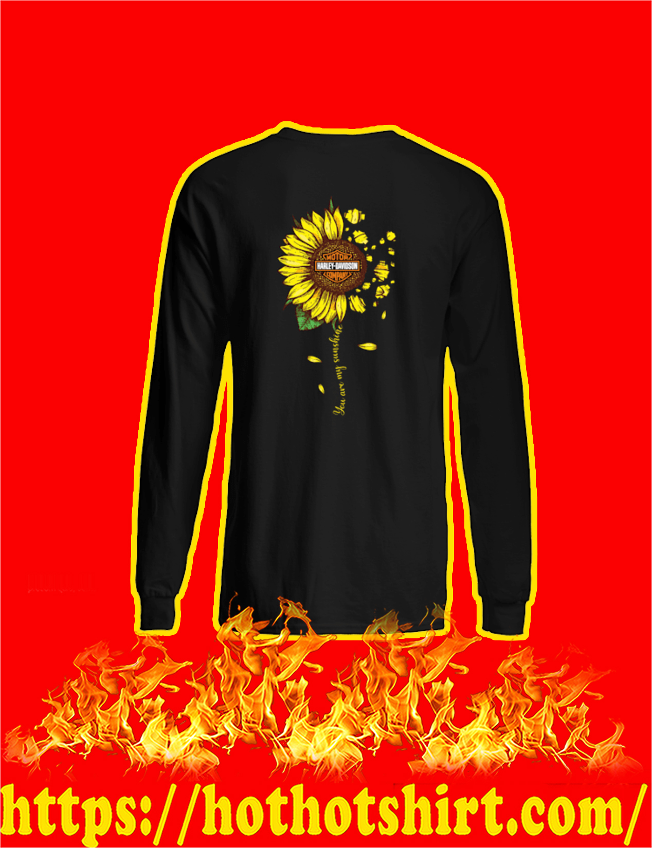 Harley-Davidson Sunflower You Are My Sunshine Long Sleeved Shirt
