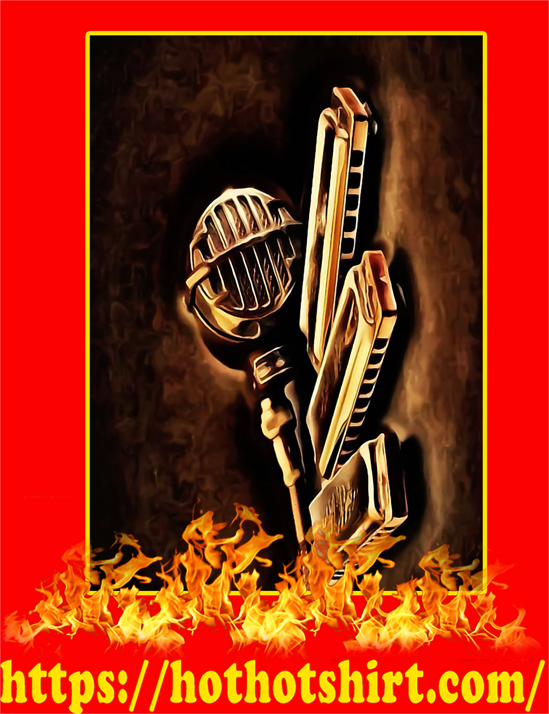 Harmonica Vintage Poster - A3
