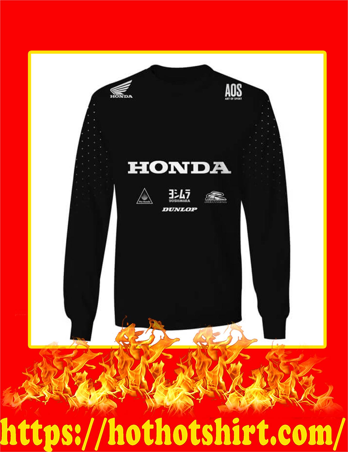 Honda Fox Racing Custom Name Number 3D Sweatshirt