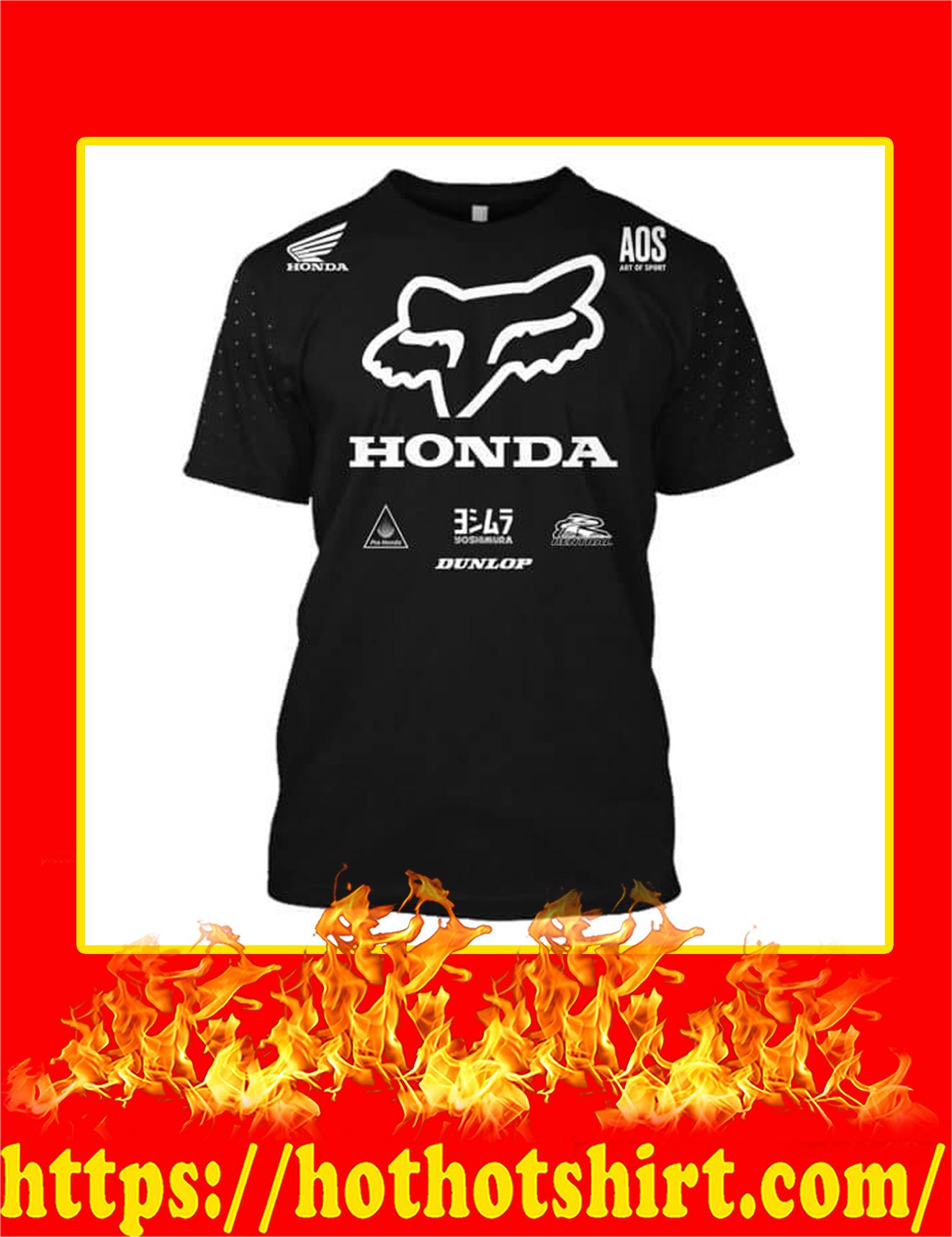 Honda Fox Racing Custom Name Number 3D T-Shirt