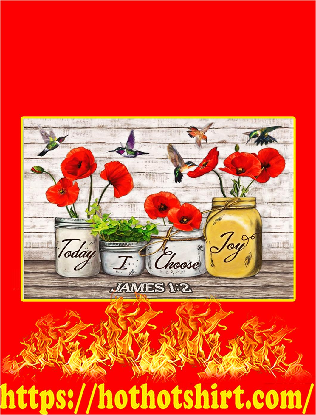 Hummingbird Today I Choose Joy Canvas Prints - A2