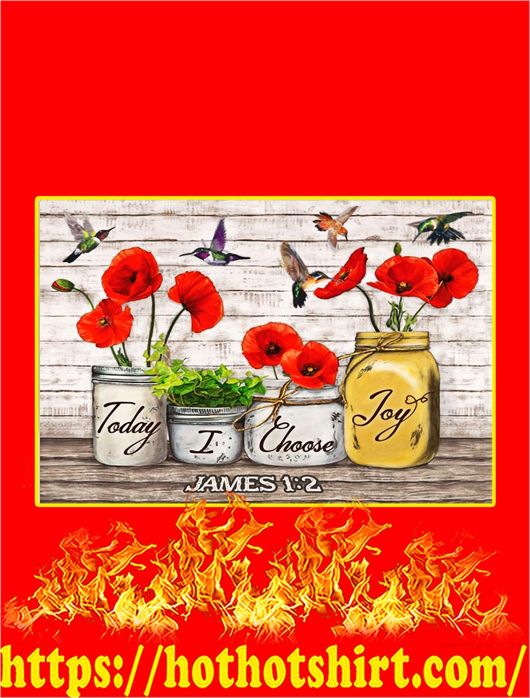 Hummingbird Today I Choose Joy Canvas Prints - A3