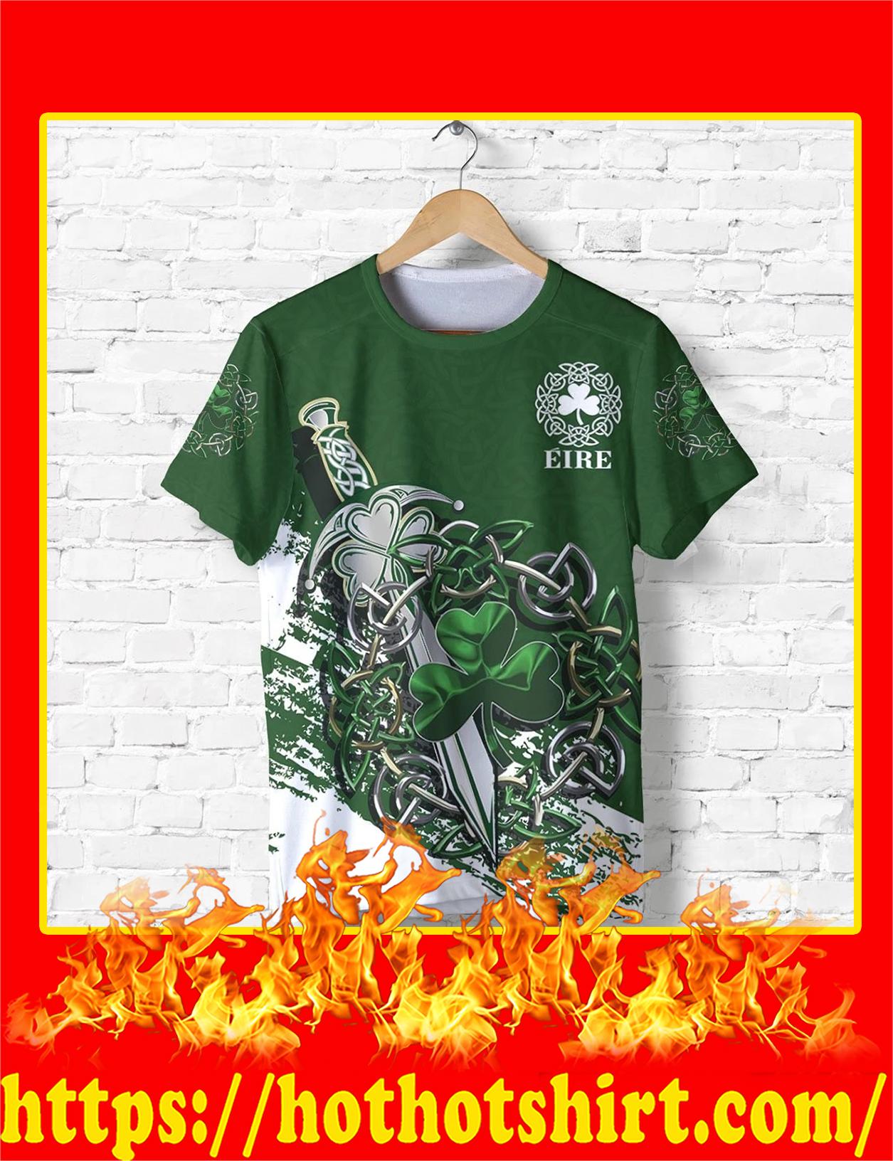 Ireland Celtic Shamrock and Sword Pullover 3D shirt
