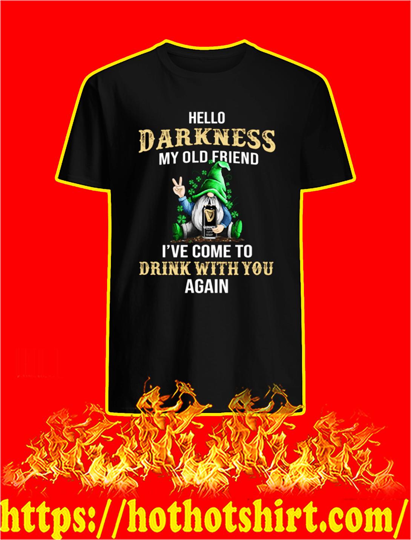 Irish Gnome Guinness Hello Darkness My Old Friend St Patrick's Day shirt