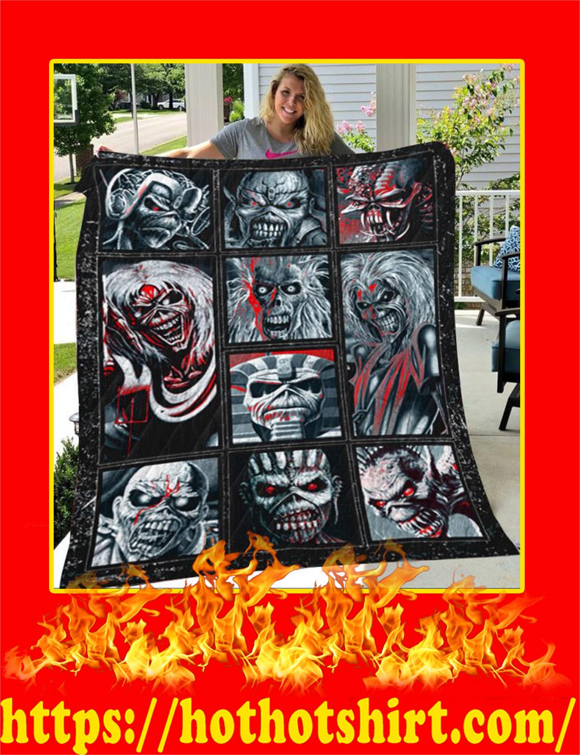 Iron Maiden Beast Quilt Blanket- king