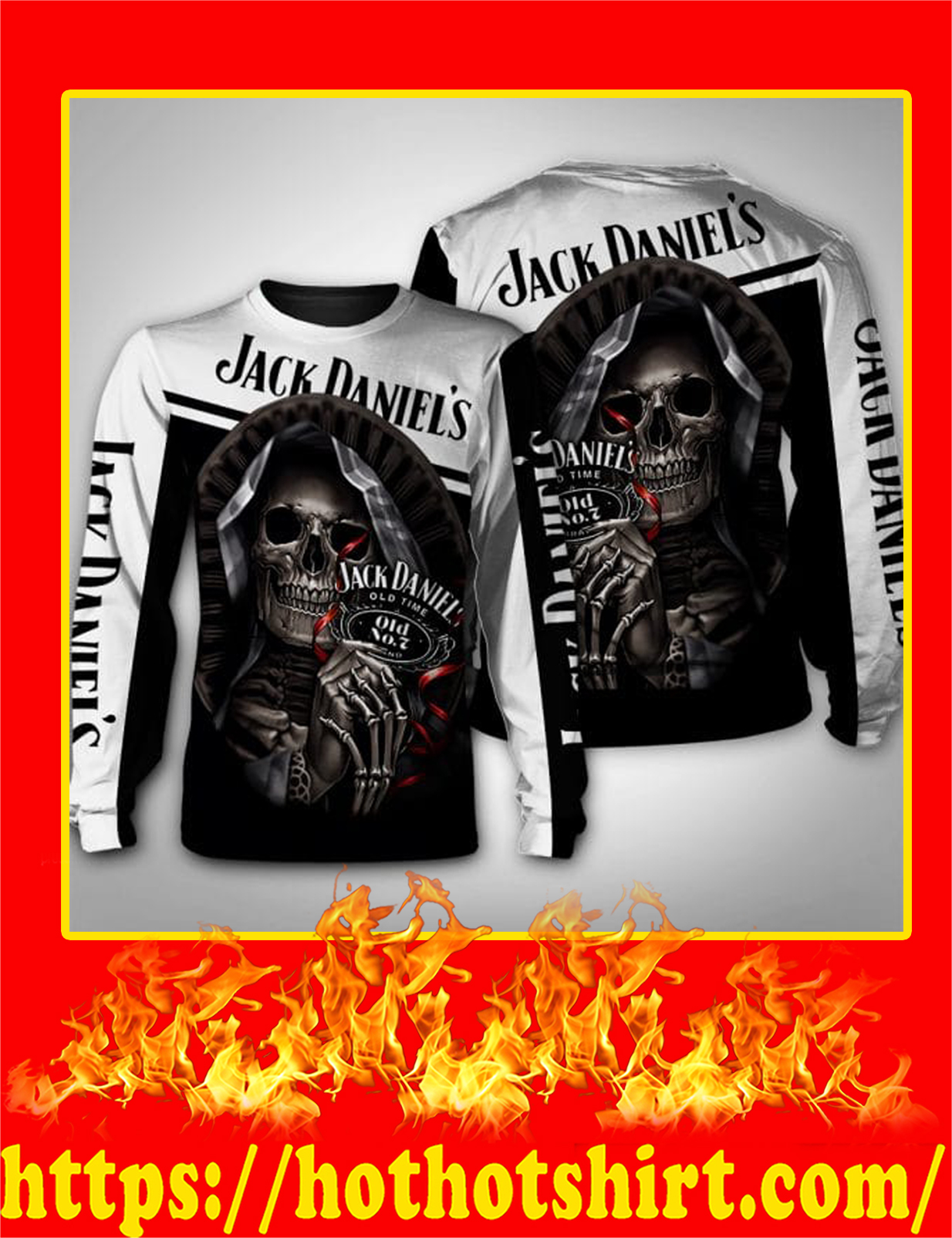 Jack Daniels Death Skull 3D Sweatshirt