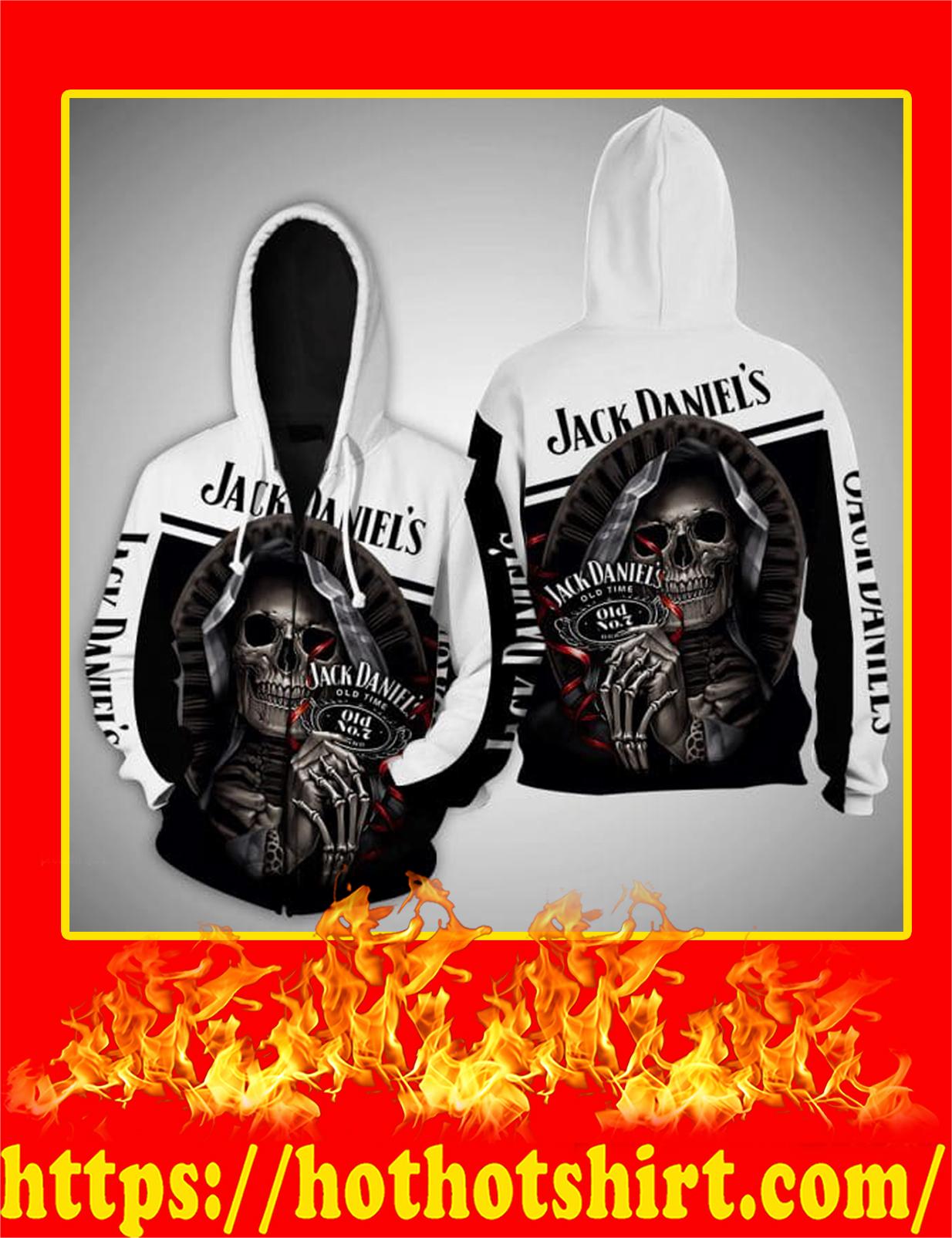 Jack Daniels Death Skull 3D zip hoodie