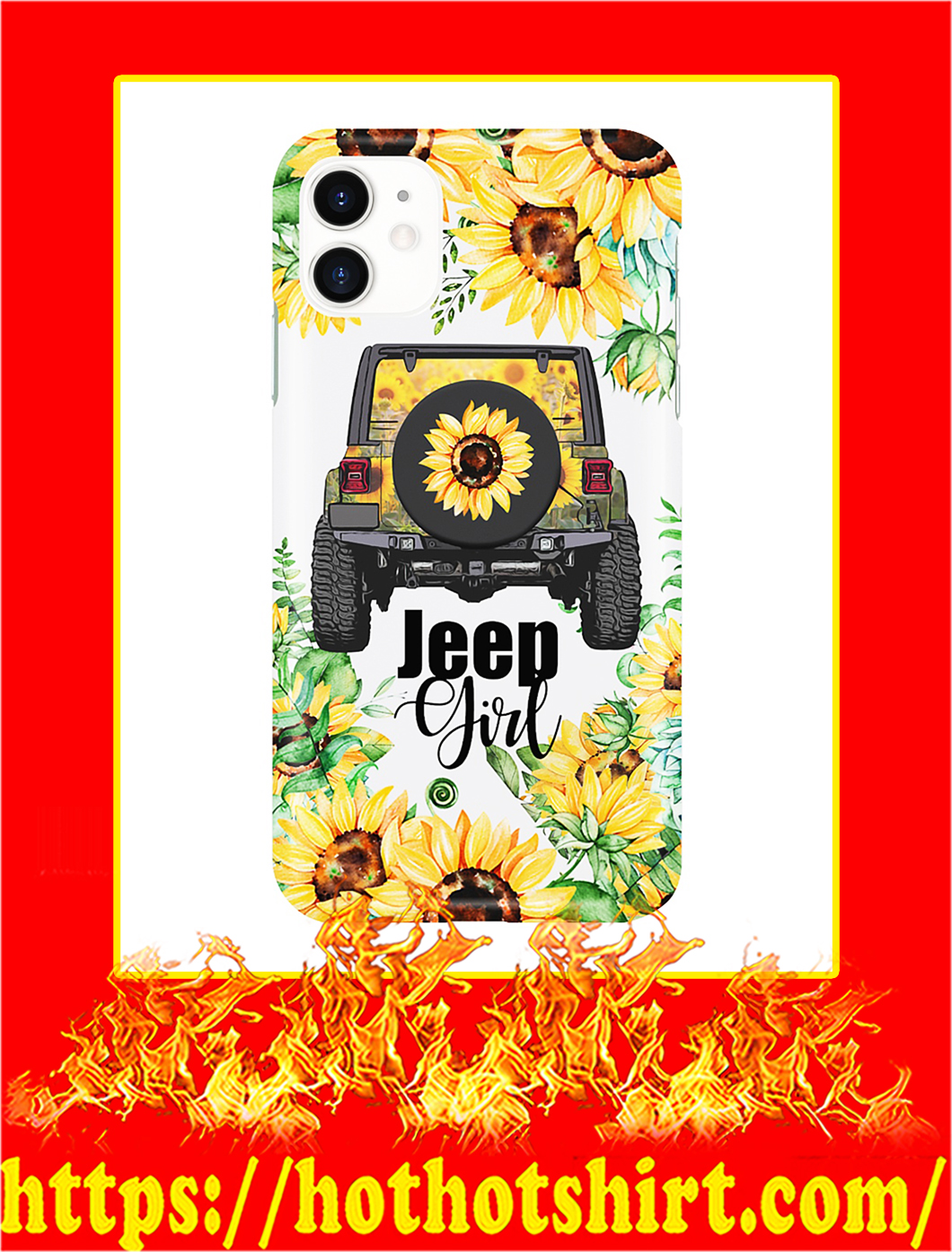 Jeep Girl Sunflower Phone Case- iphone 11
