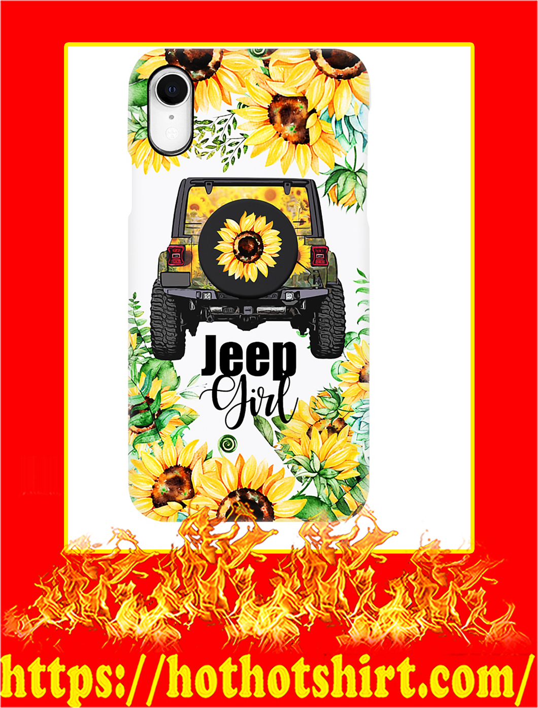 Jeep Girl Sunflower Phone Case- iphone XS
