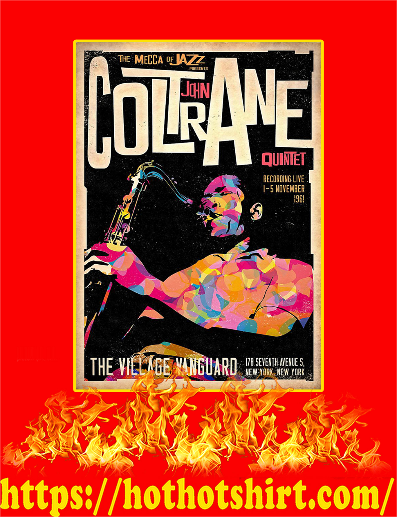 John Coltrane Quintet Poster - A3