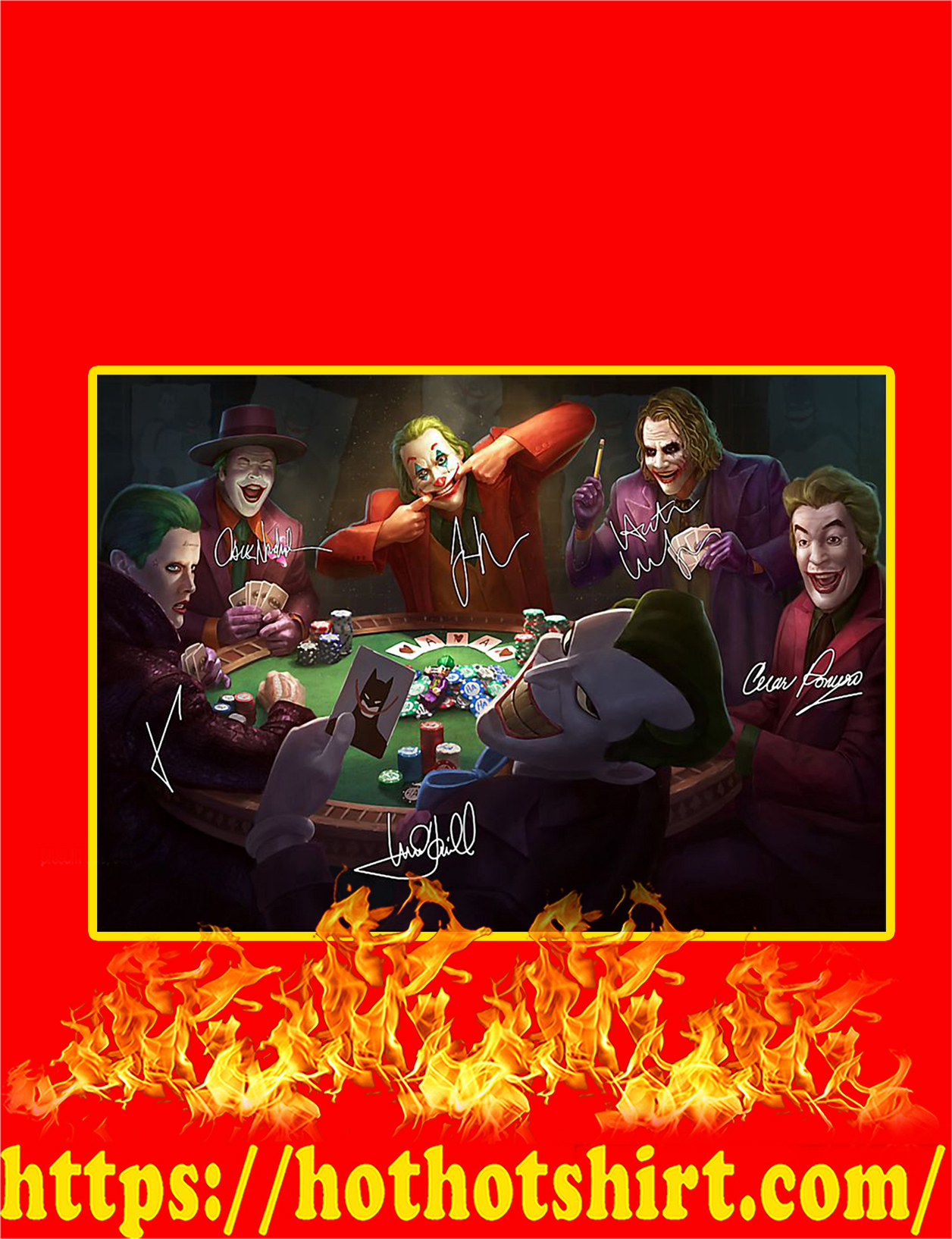 Jokers Playing Poker Signature Poster - A4