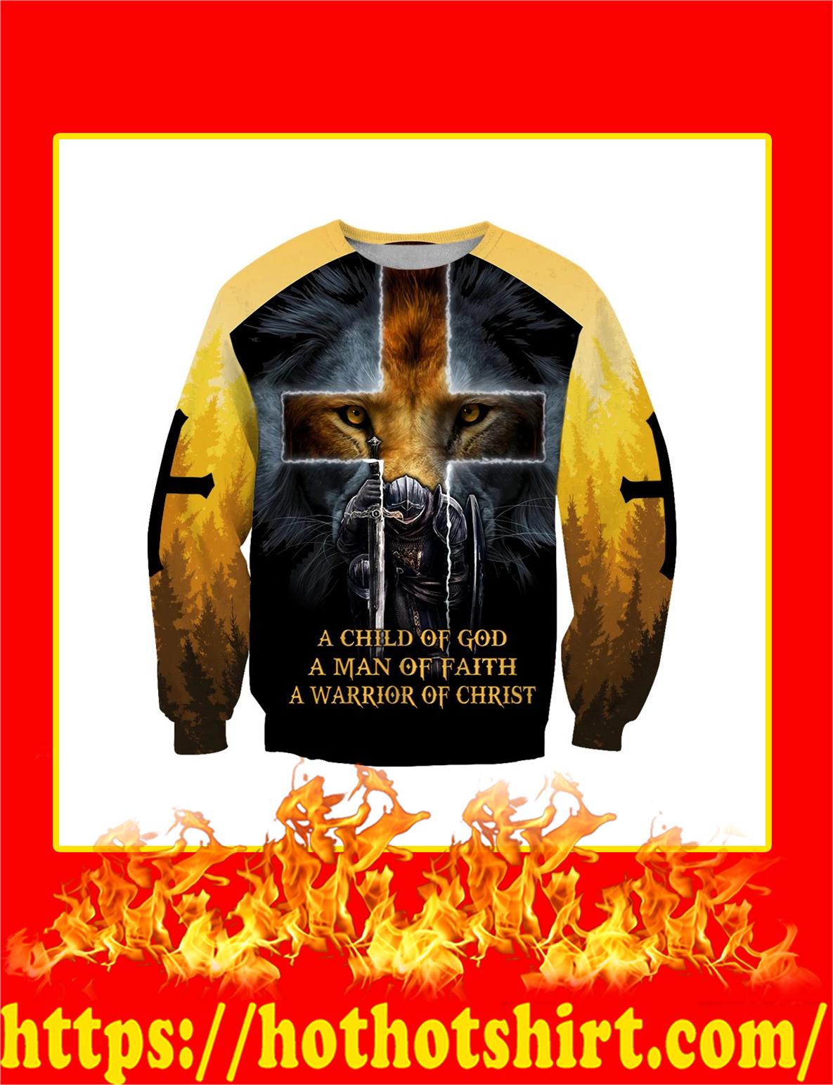 Knight Templar Jesus Lion A Child Of God 3D All Over Printed sweatshirt