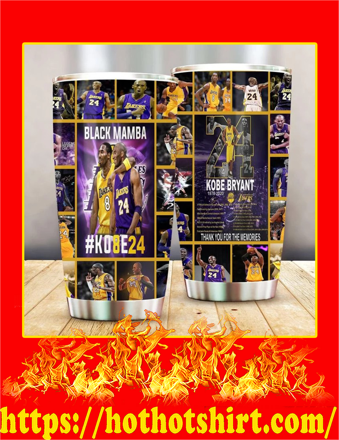 Kobe Bryant thank you for the memories tumbler - 20 oz