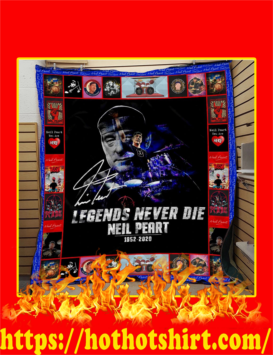 Legends Never Die Neil Peart 1952 2020 Quilt Blanket - twin