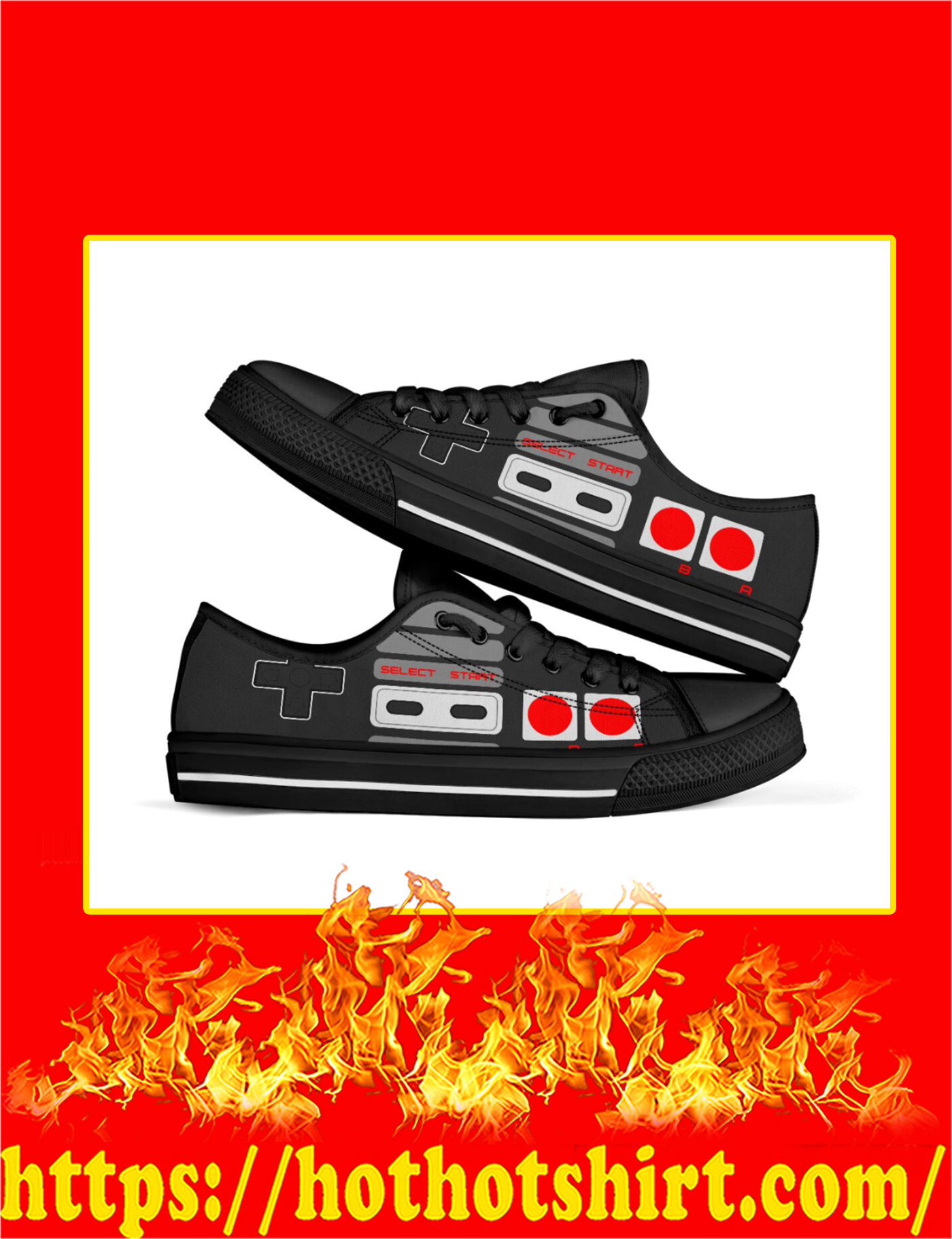 Love Game Controller Low Top - Pic 1