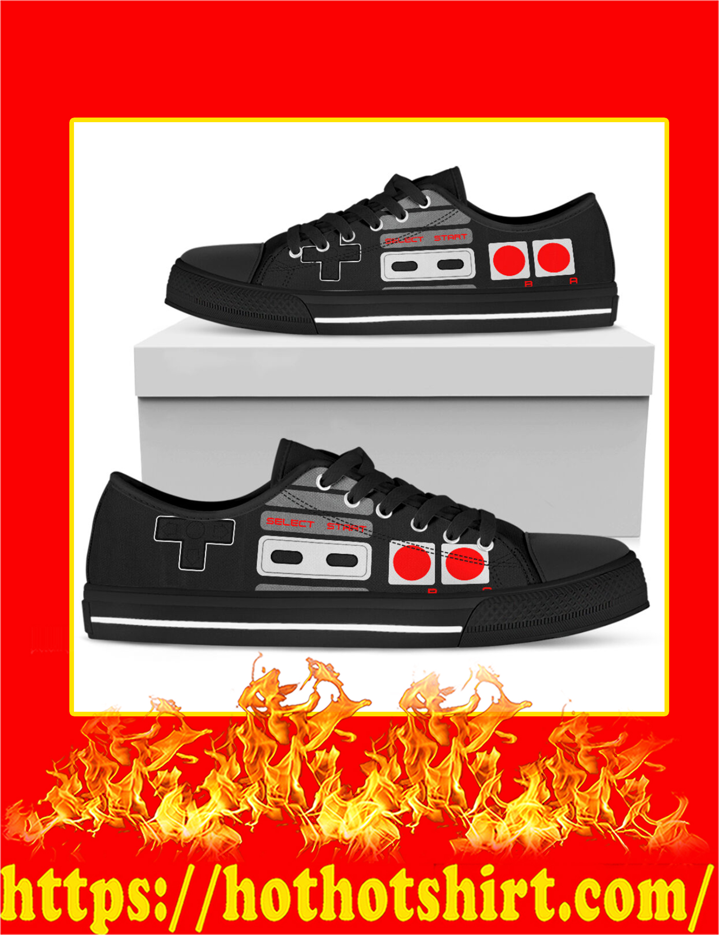 Love Game Controller Low Top - Pic 2