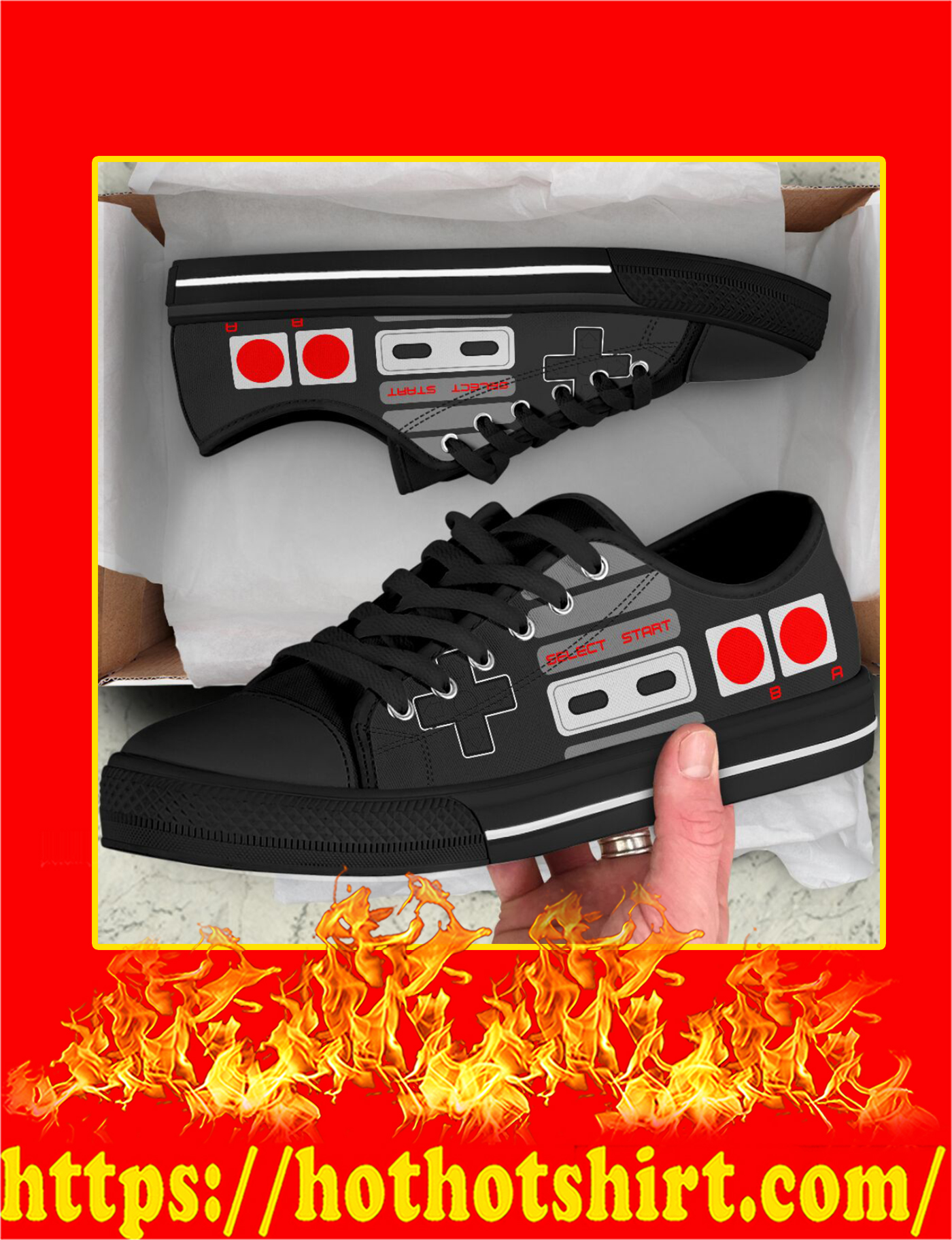 Love Game Controller Low Top - Pic 3