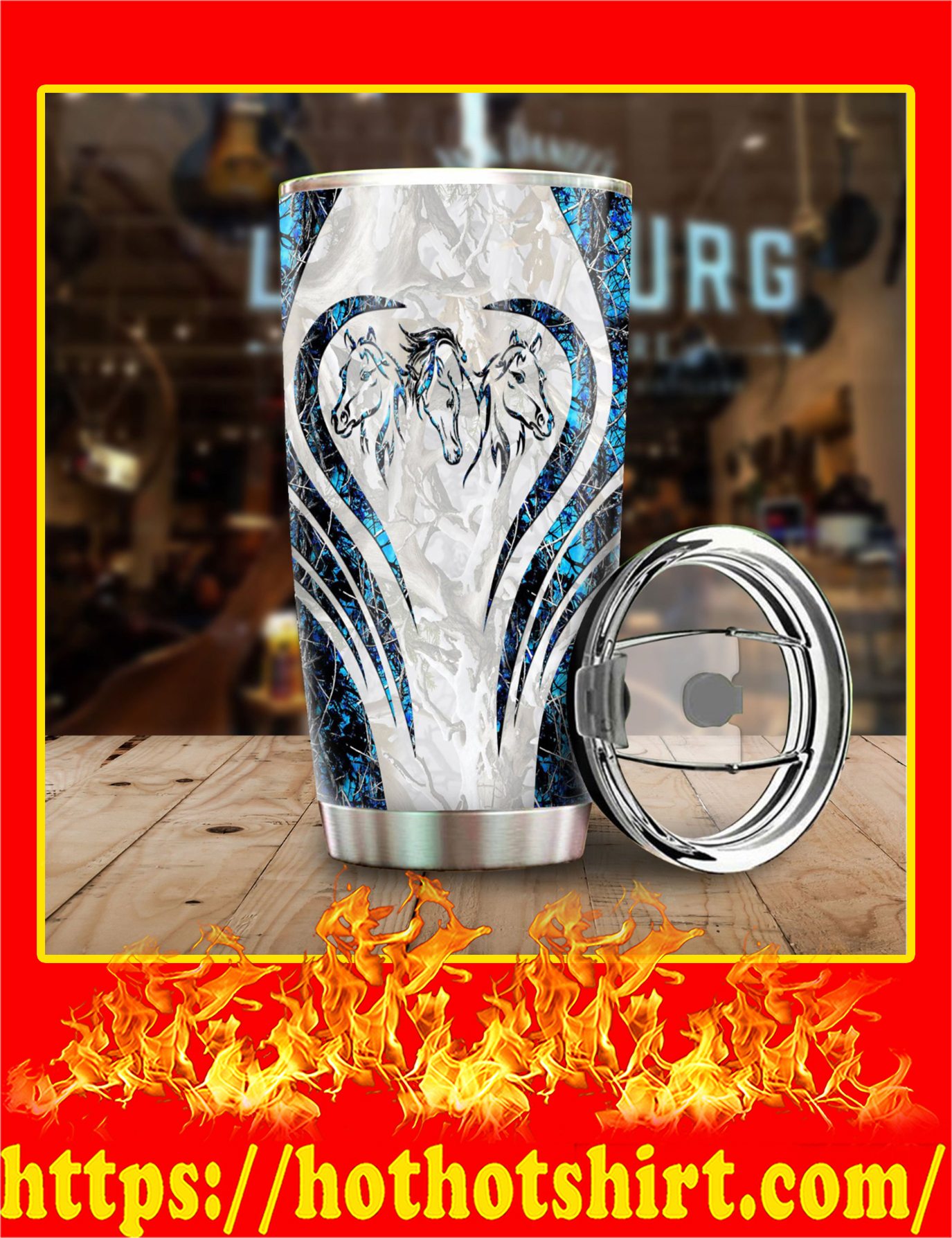 Love Horse Camo Stainless Steel Tumbler