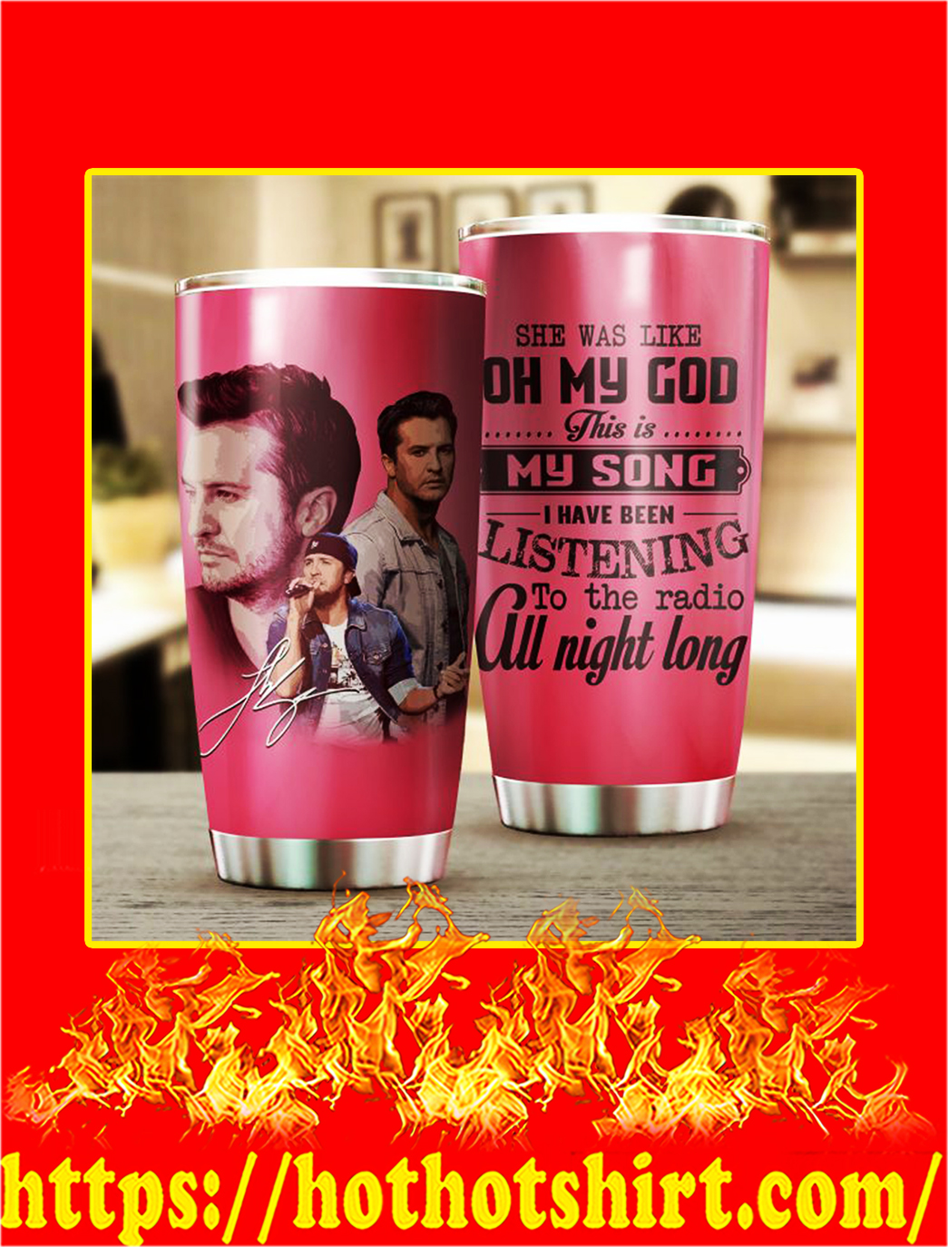 Luke Bryan Stainless Steel Tumbler- 20 oz