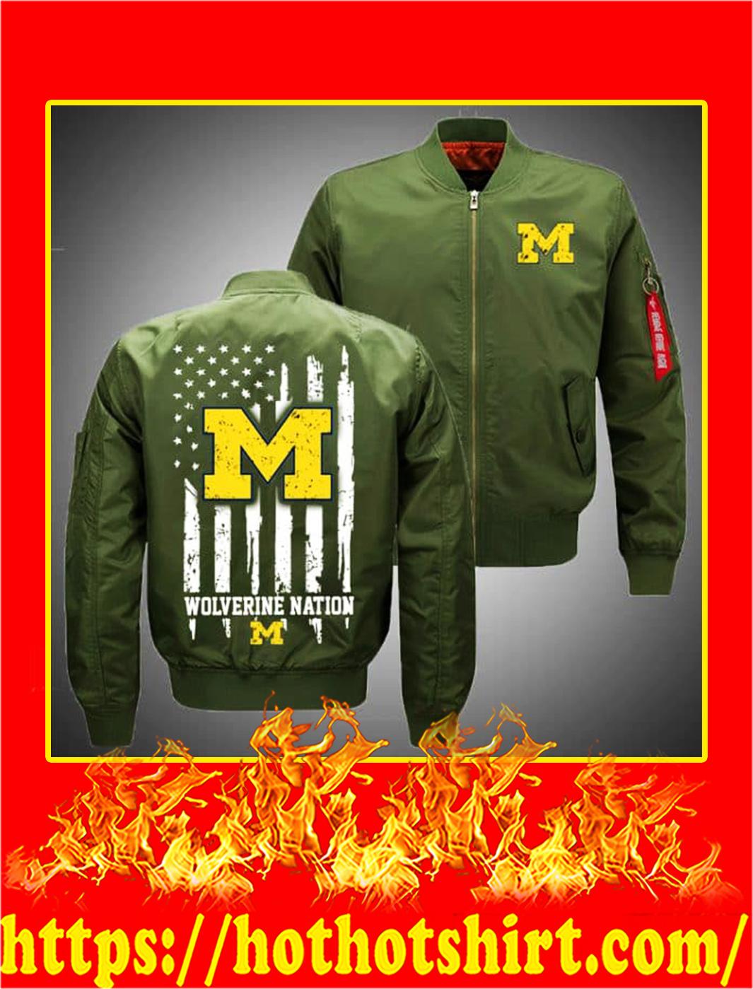 Michigan Wolverines Bomber- green