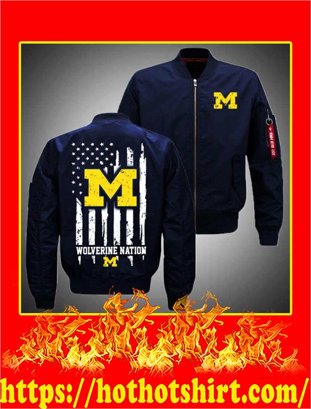Michigan Wolverines Bomber- navy