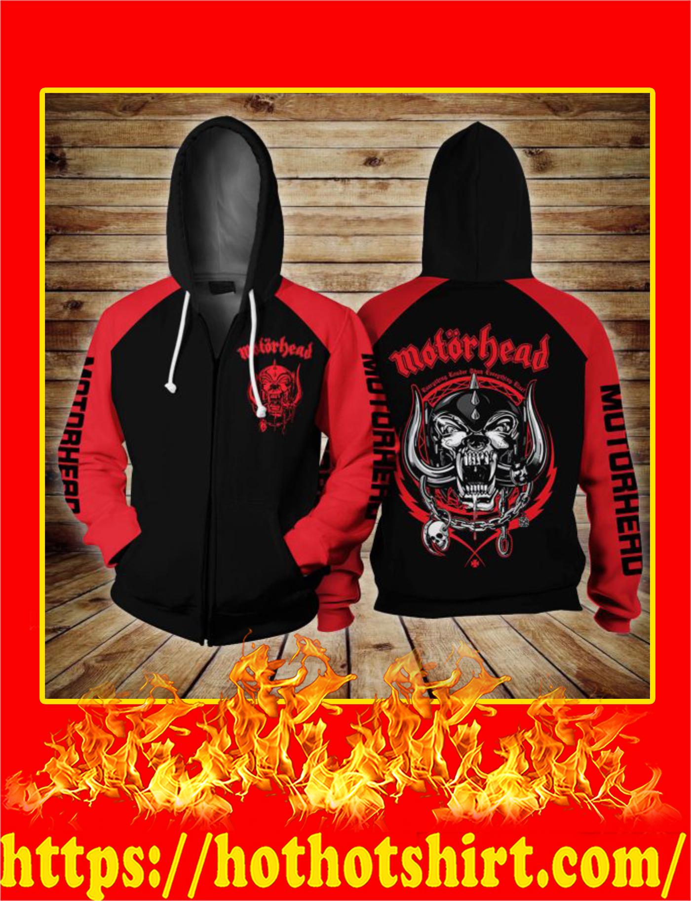 Motorhead Logo 3D Zip Hoodie